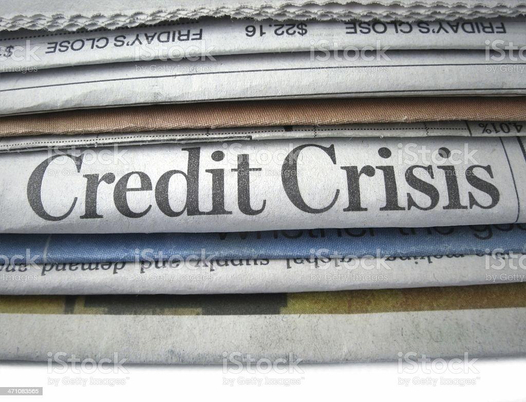 Credit Crisis royalty-free stock photo