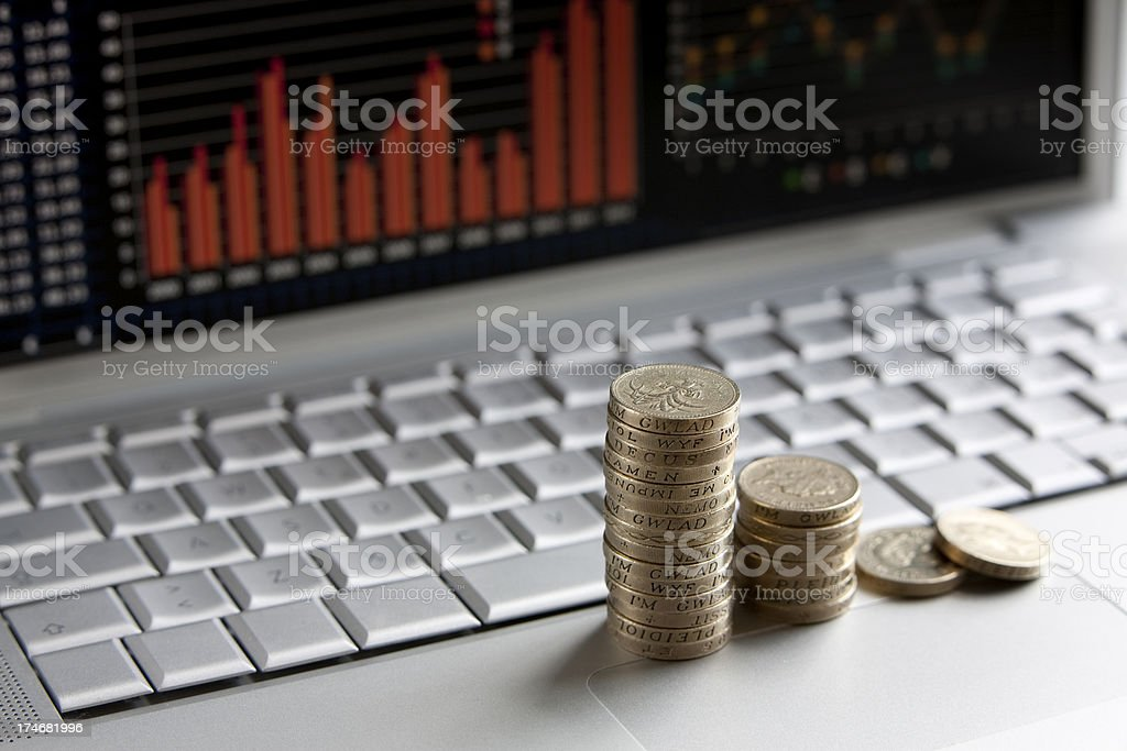 Credit cruch in England royalty-free stock photo