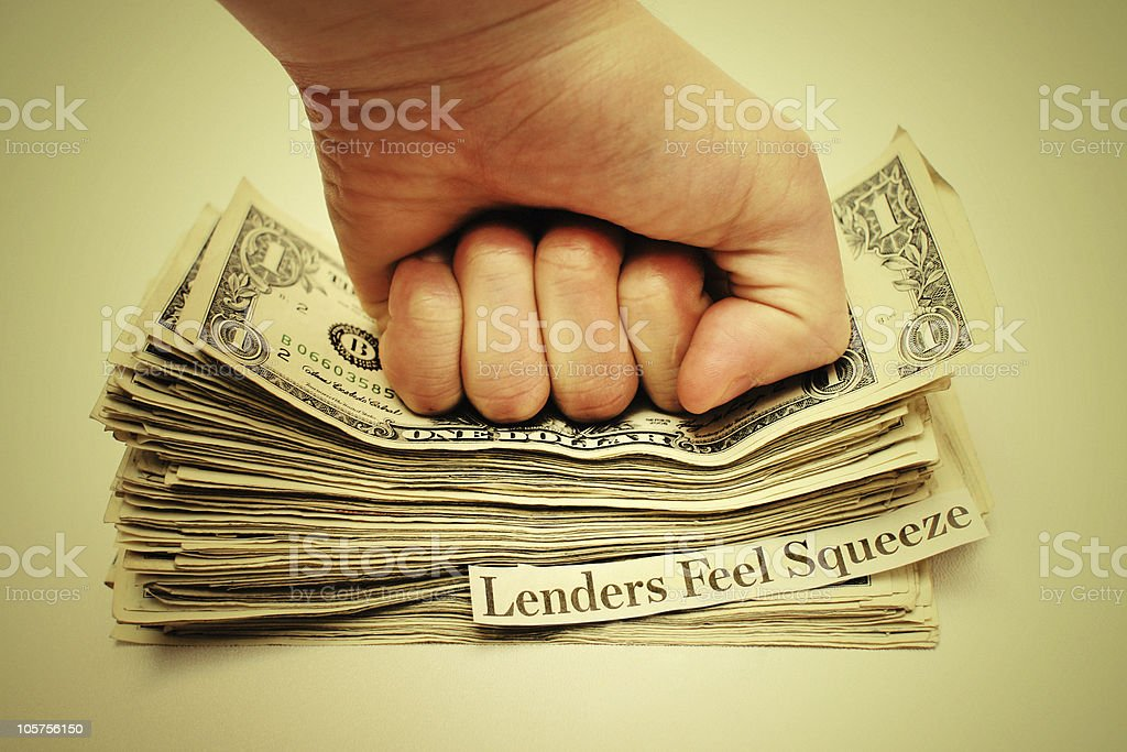 Credit Crunch: Banks Not Lending - Concept Photo royalty-free stock photo