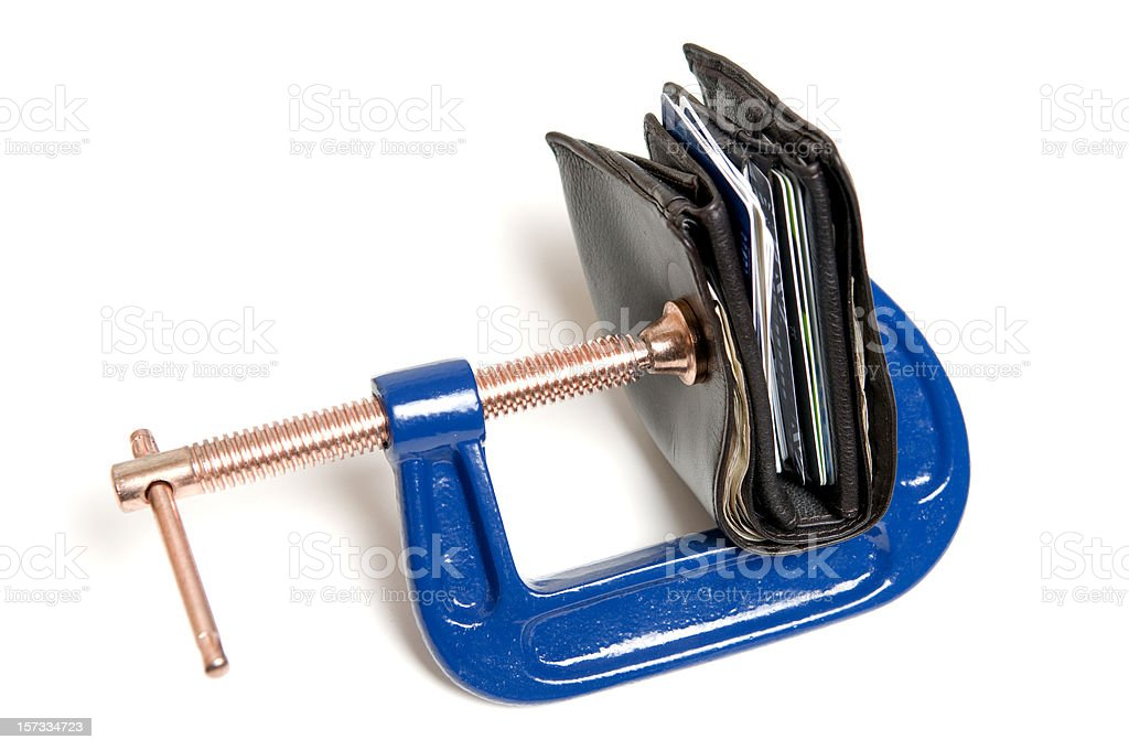 Credit Crunch Financial Pressure Concept royalty-free stock photo