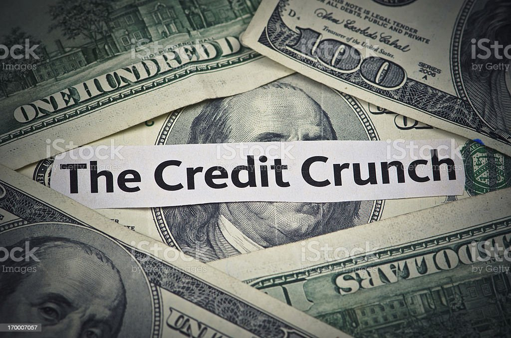 Credit Crunch Money Problems royalty-free stock photo
