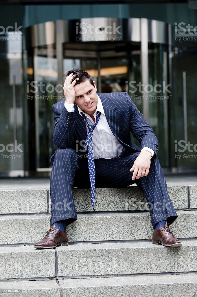 Credit Crunched stock photo