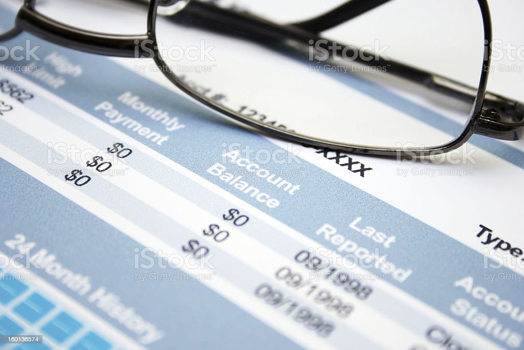 Credit form royalty-free stock photo