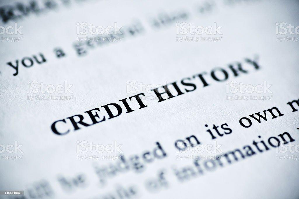 Credit History royalty-free stock photo