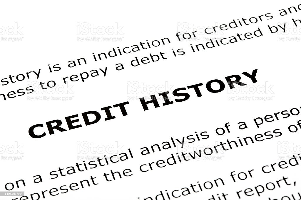 Credit History royalty-free stock photo