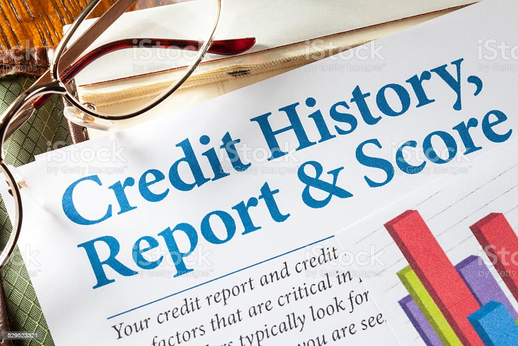 Credit History Report and Score stock photo
