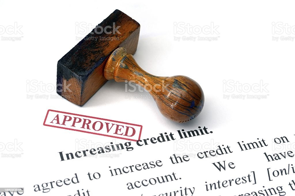 Credit limit - approved royalty-free stock photo