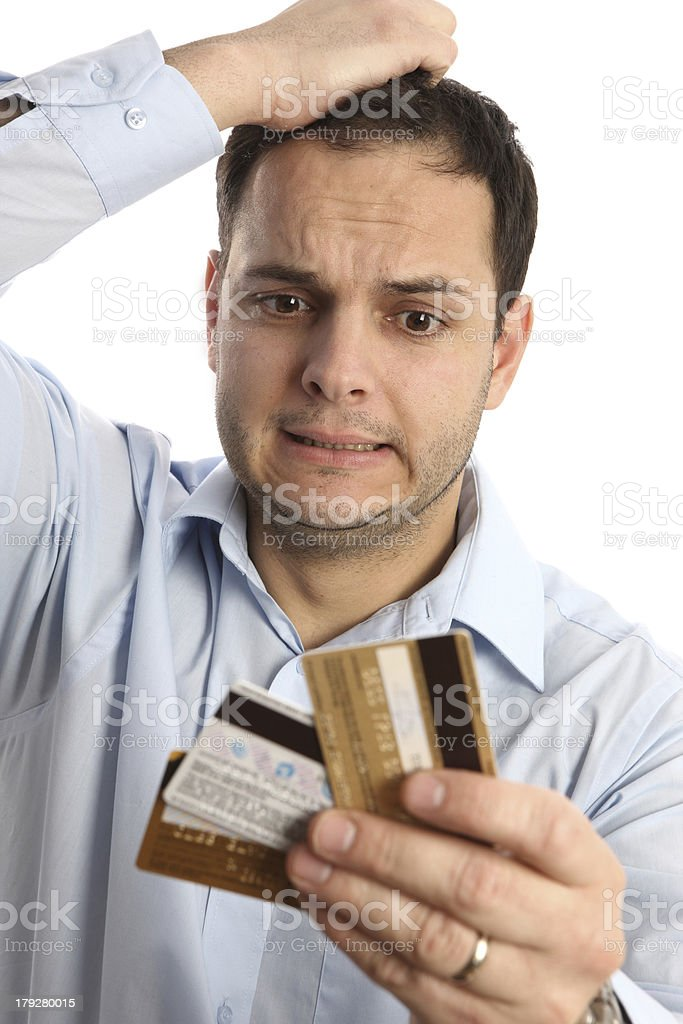 credit meltdown royalty-free stock photo
