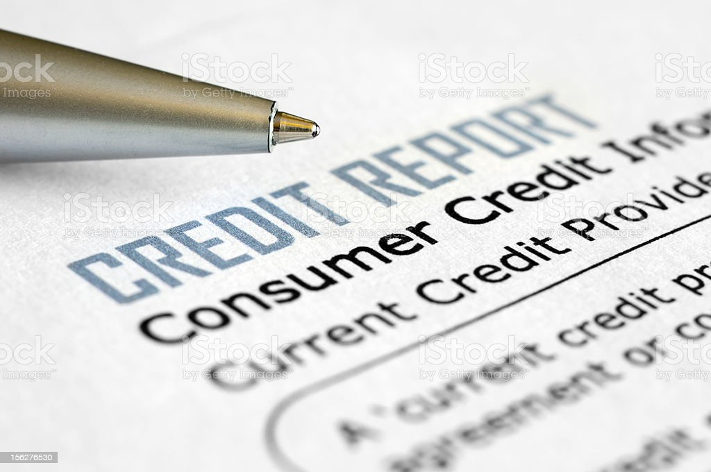 Credit report royalty-free stock photo