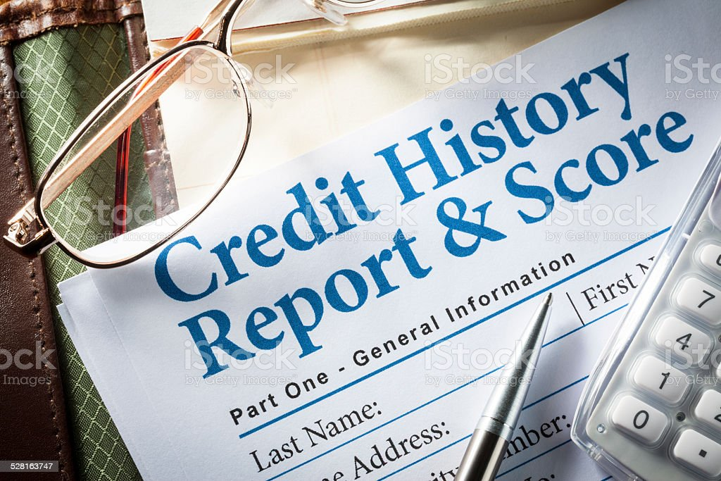 Credit Report stock photo