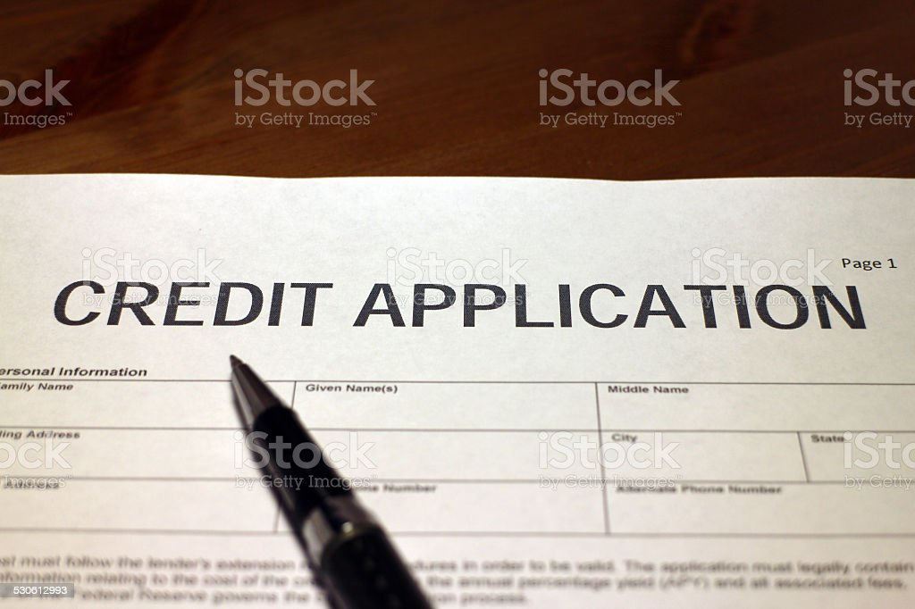 Credit Request stock photo