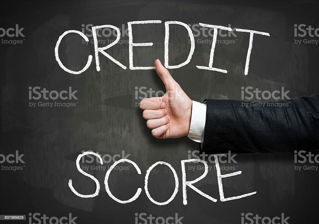 Credit score / Blackboard concept (Click for more) stock photo