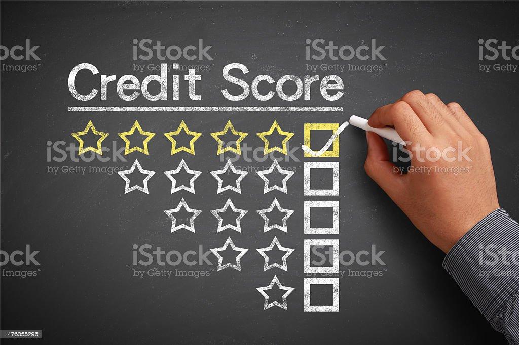 Credit score concept stock photo