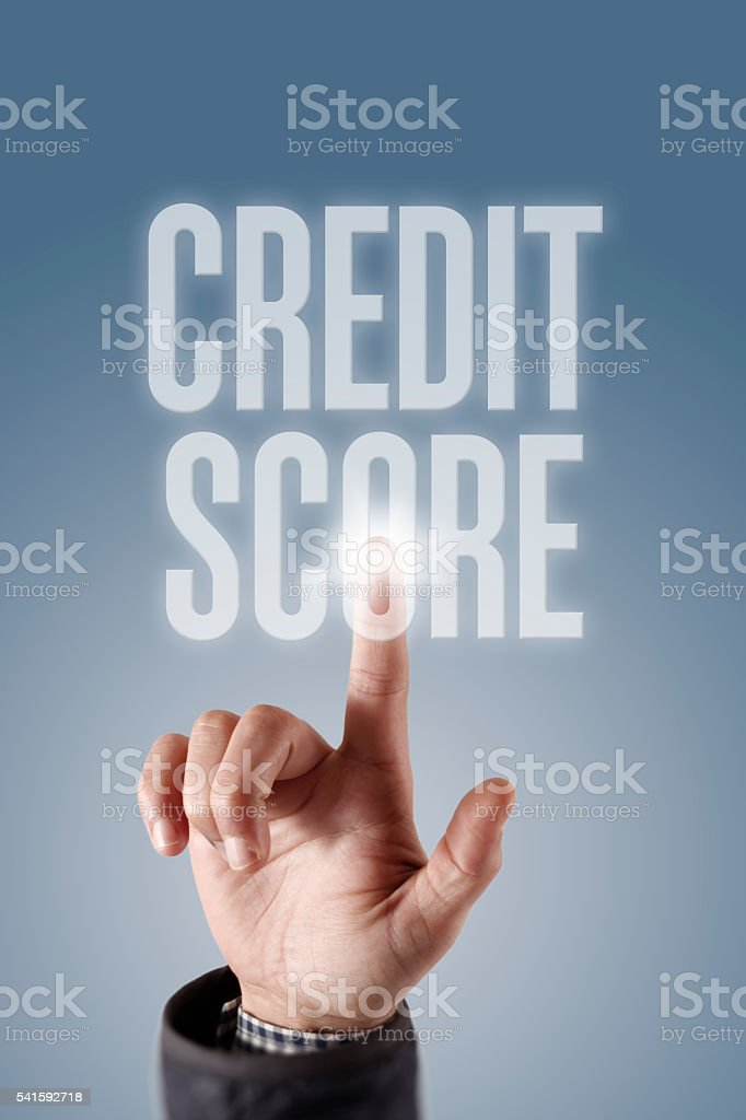 ' Credit Score ' Internet Data Technology Concept stock photo