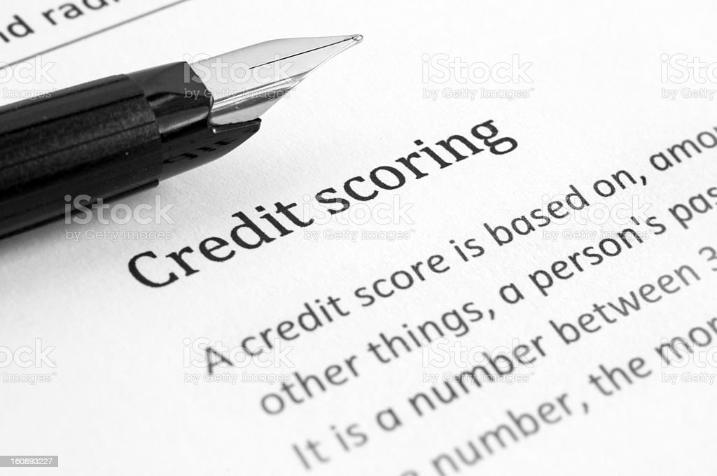 Credit scoring stock photo