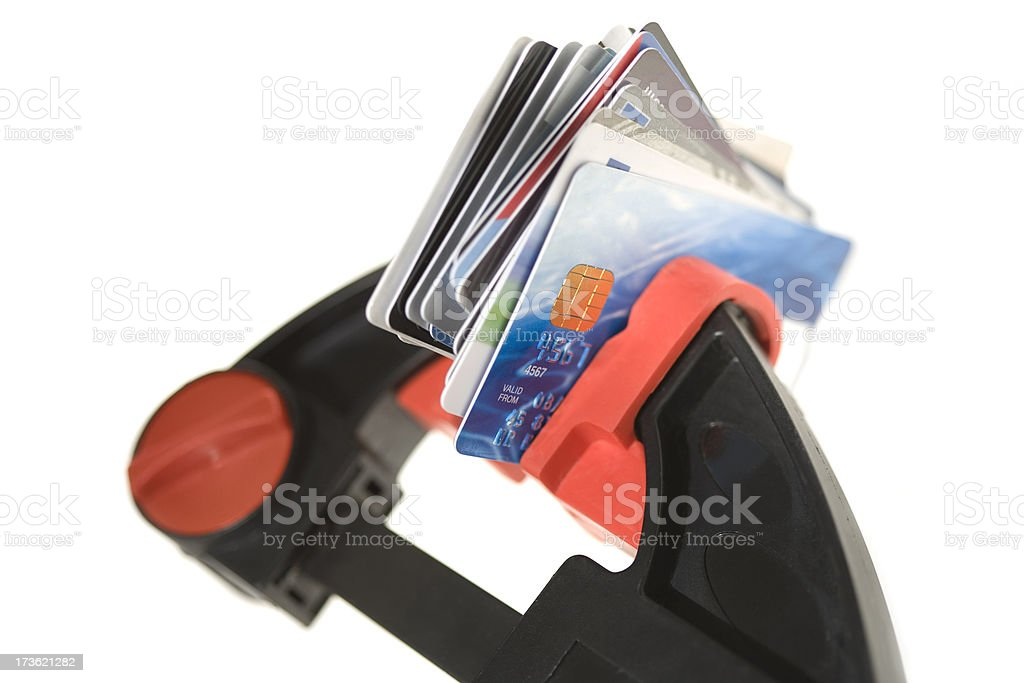 Credit Squeeze royalty-free stock photo