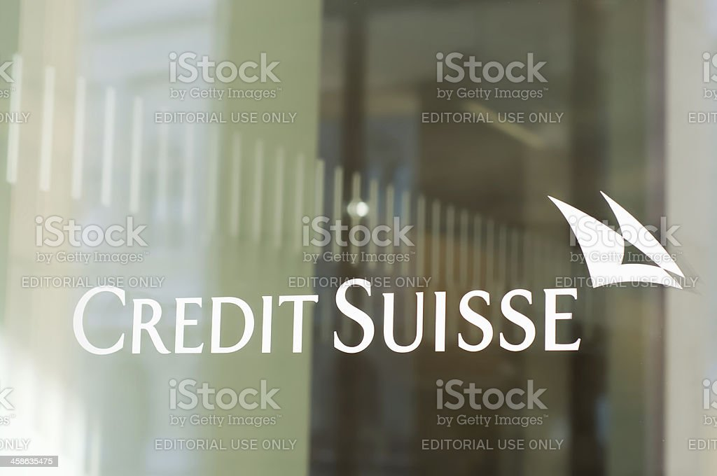 Credit Suisse Bank Branch stock photo
