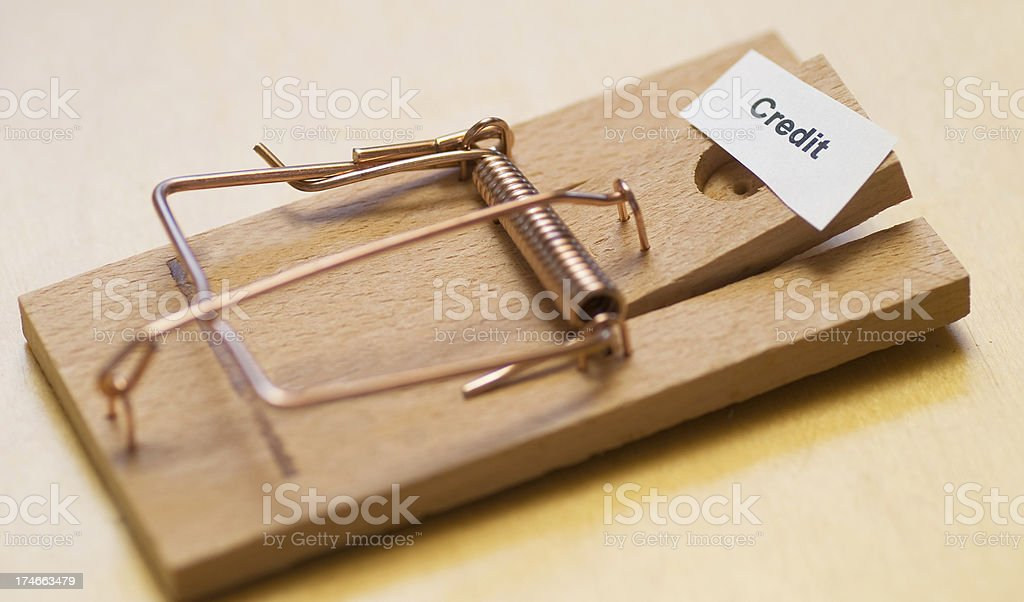credit trap abstract, unusual picture stock photo