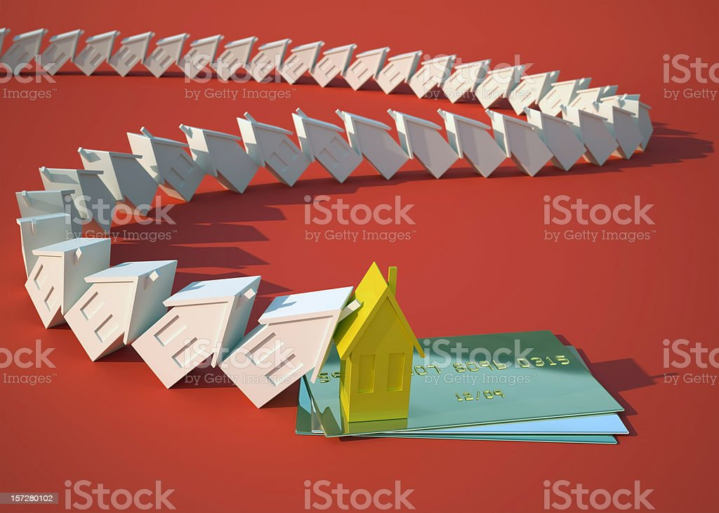 Creditcard and the house royalty-free stock photo