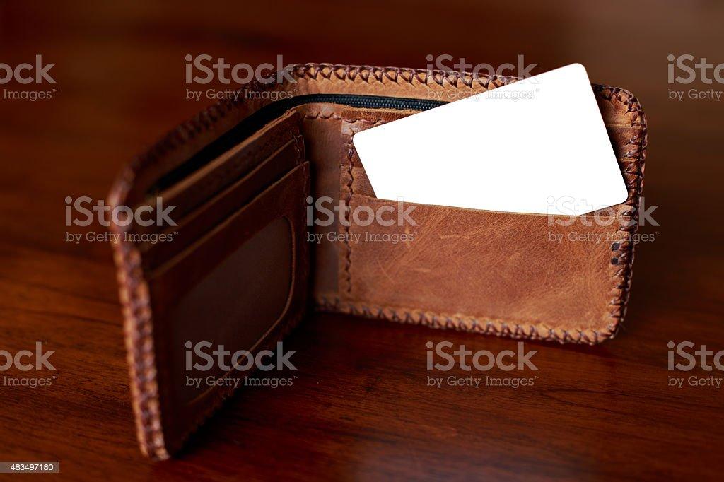 creditcard & wallet stock photo
