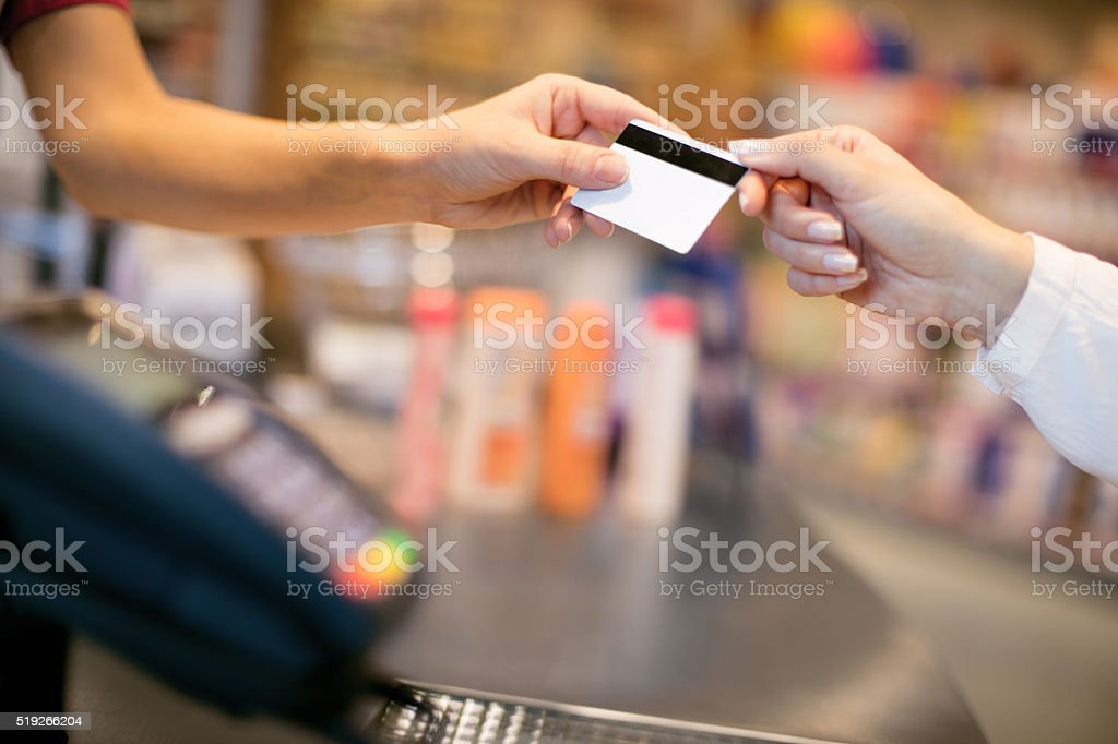 Credti card payment stock photo