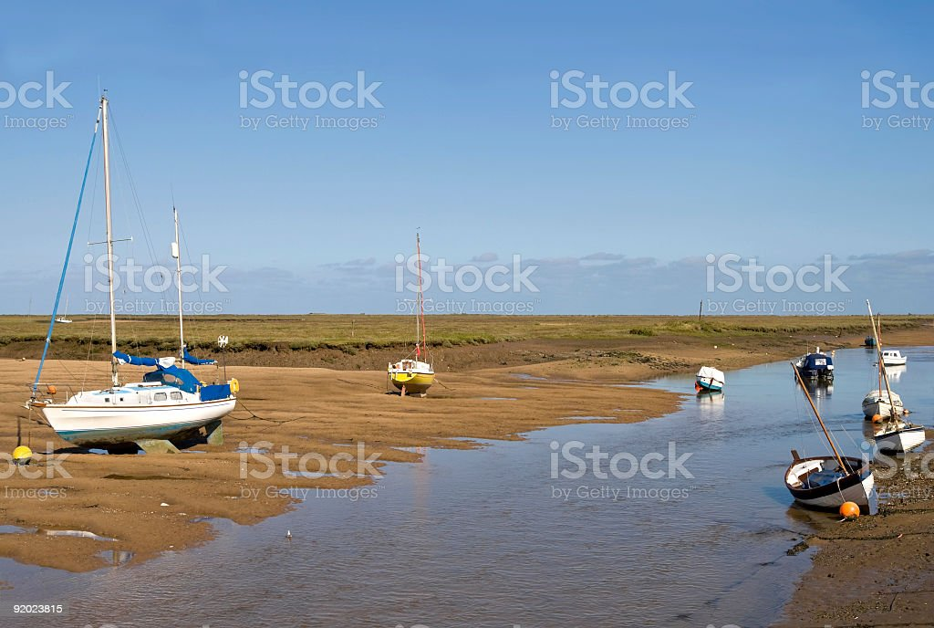 Creek at low tide royalty-free stock photo