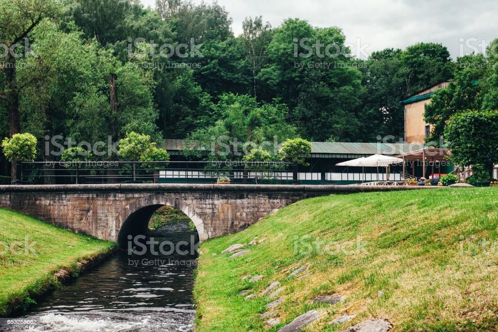 Creek Bridge stock photo