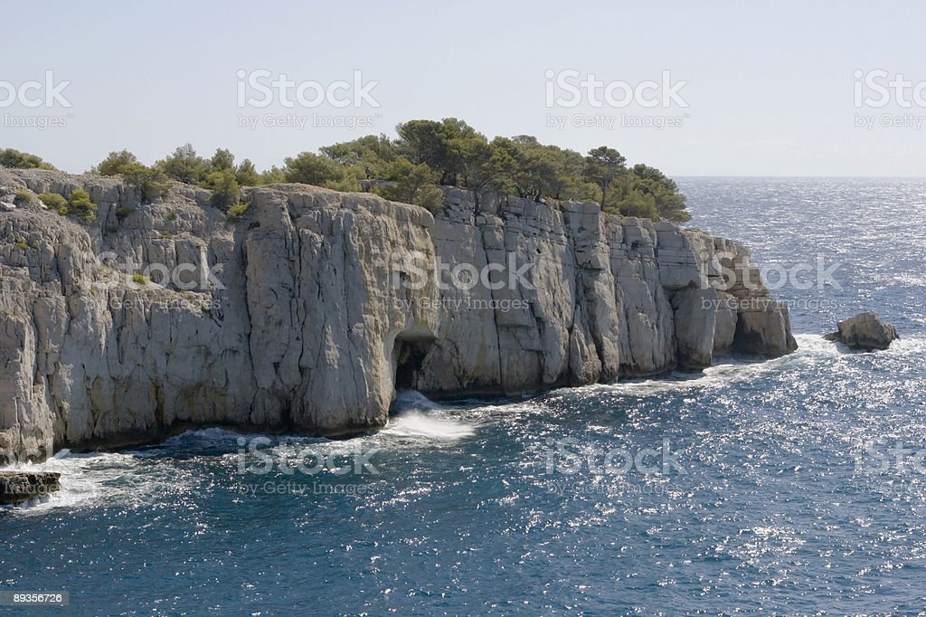 Calanques Cliffs royalty-free stock photo