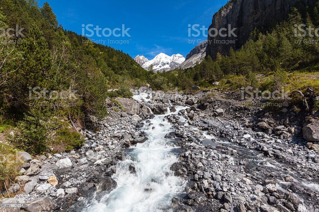 Creek in Alps stock photo