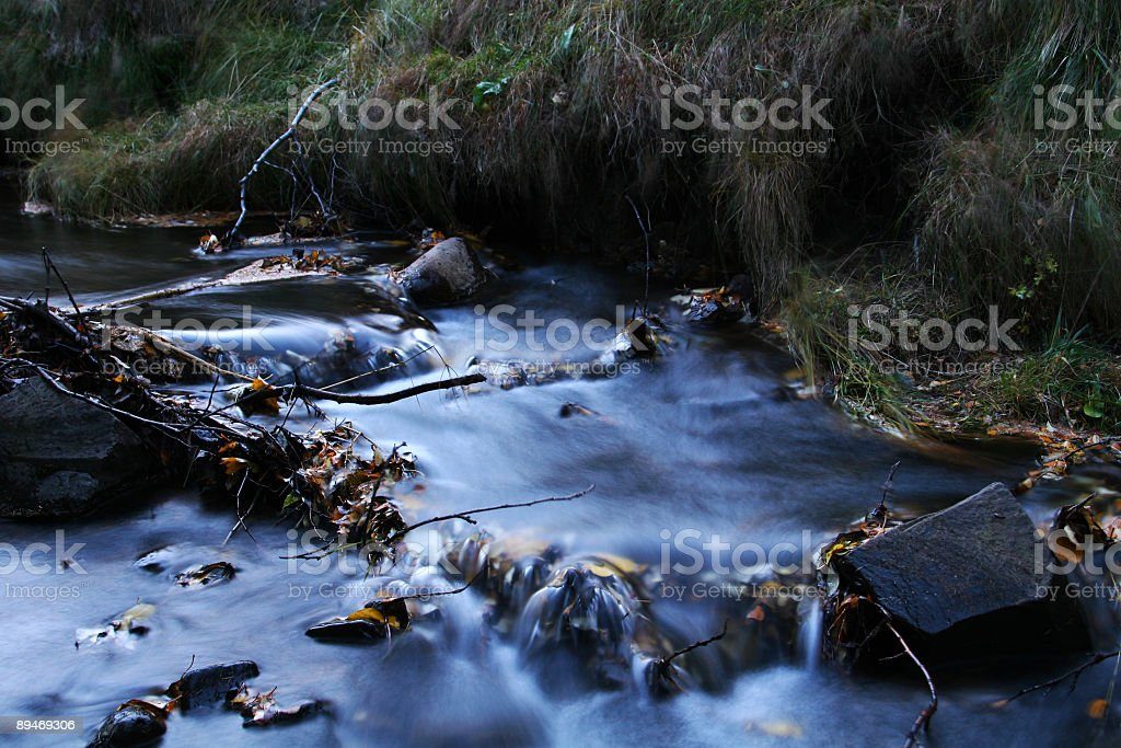 Creek in autumn royalty-free stock photo