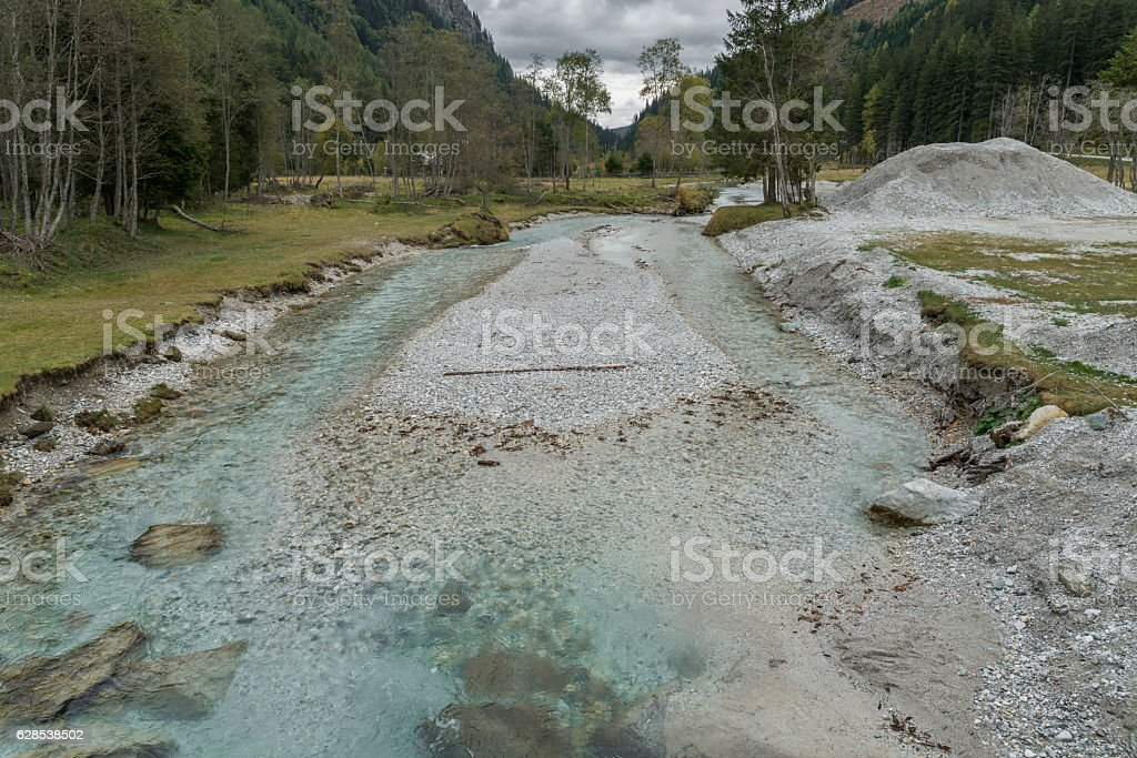 Creek in the Lessachtal in Lungau in Austria stock photo