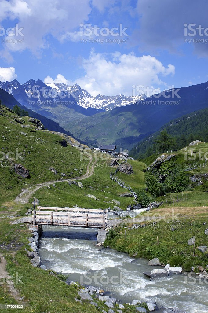 Creek in the mountains royalty-free stock photo