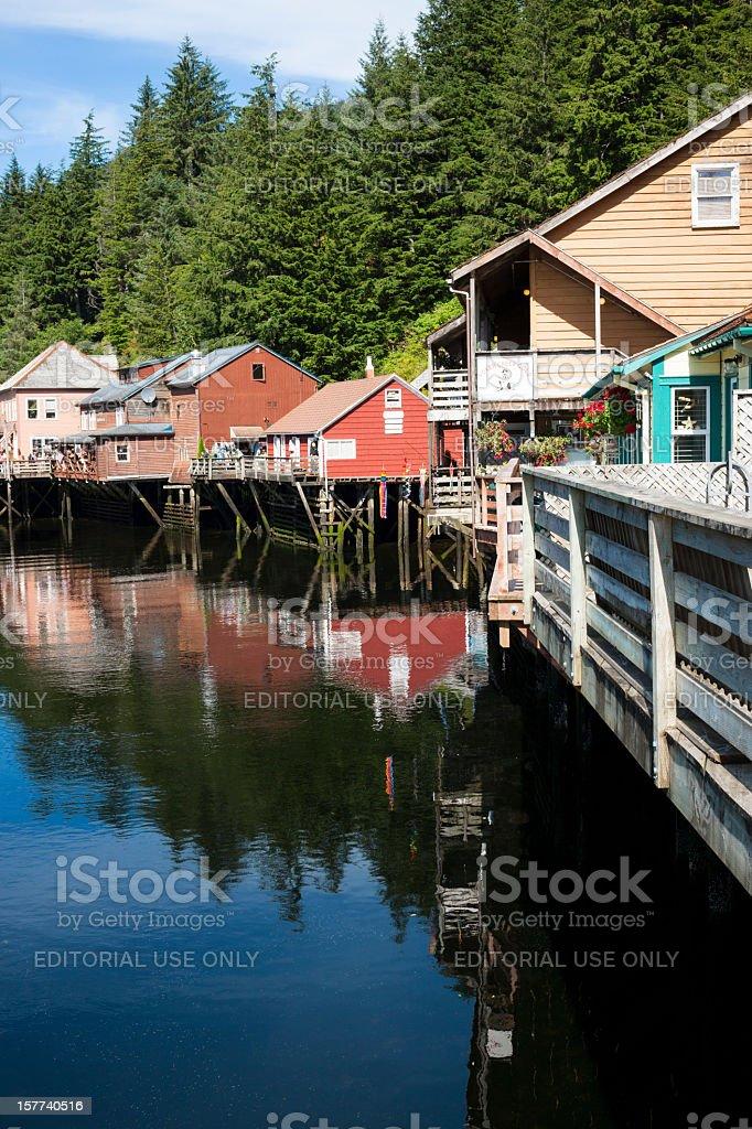 Creek Street Shopping District, Ketchikan, Alaska stock photo