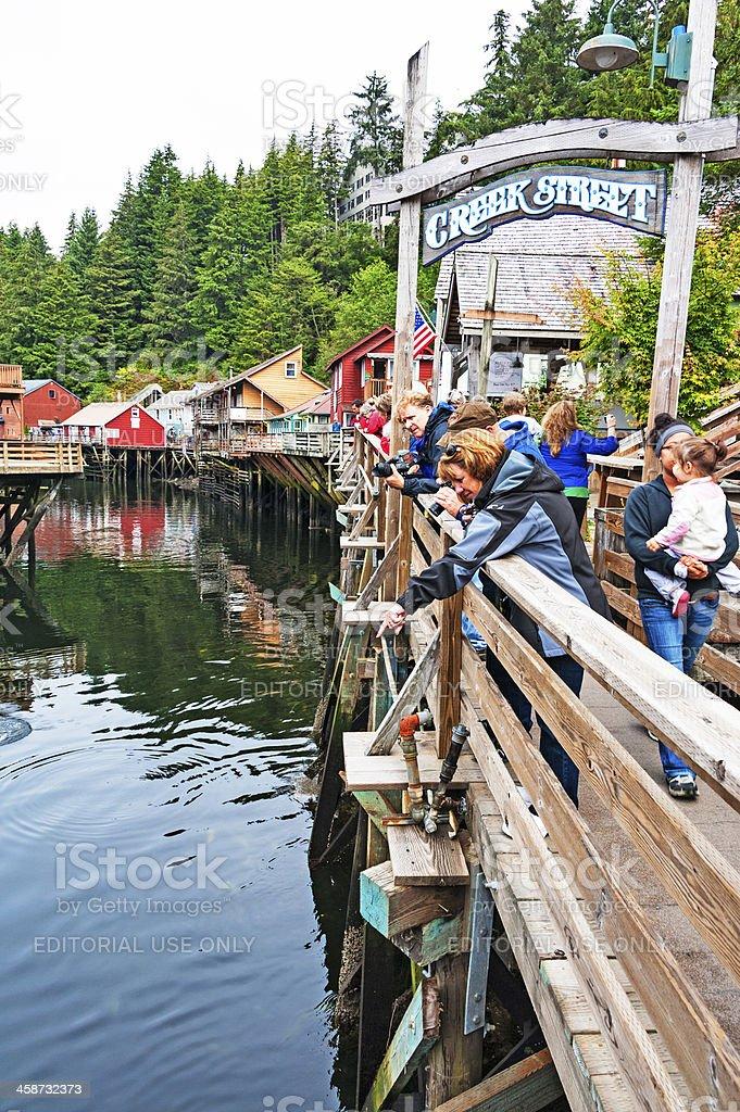 Creek  Street Visitors stock photo