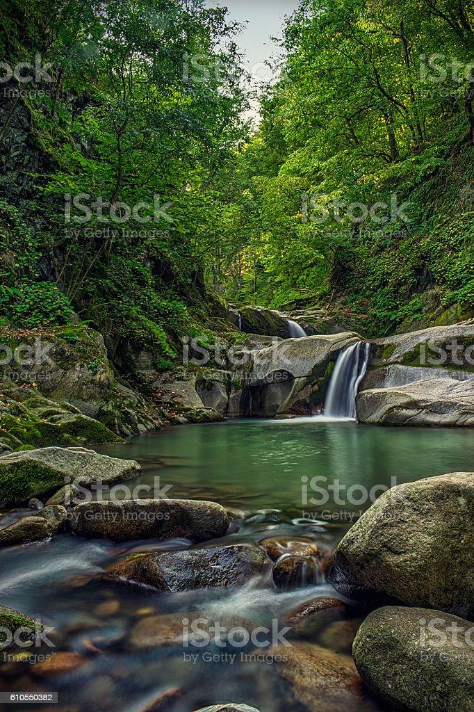 Creek waterfalls stock photo