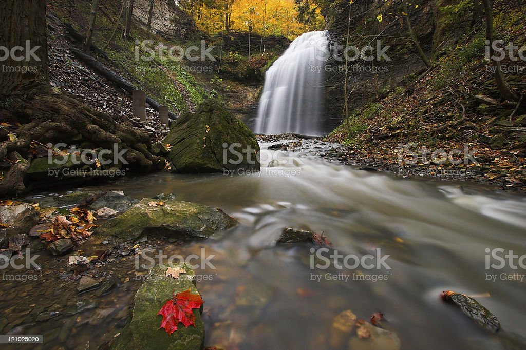 Creek with waterfall royalty-free stock photo