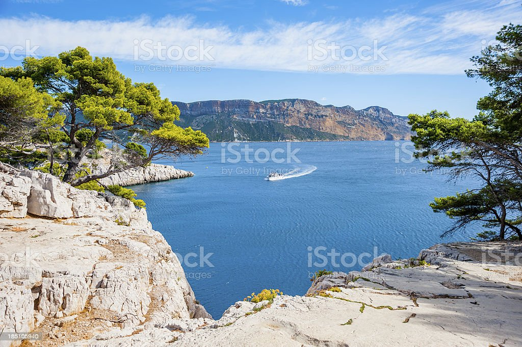 Calanques stock photo