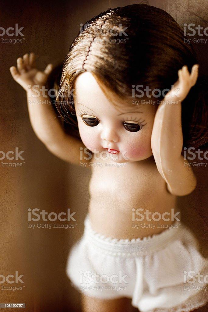 Creepy Antique Doll royalty-free stock photo