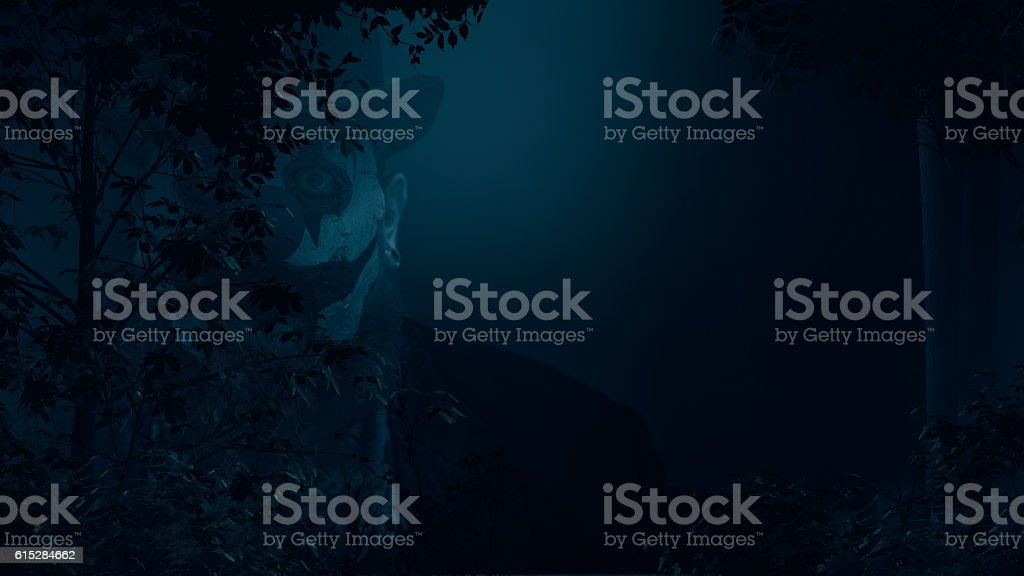 Creepy Clown Creepin stock photo
