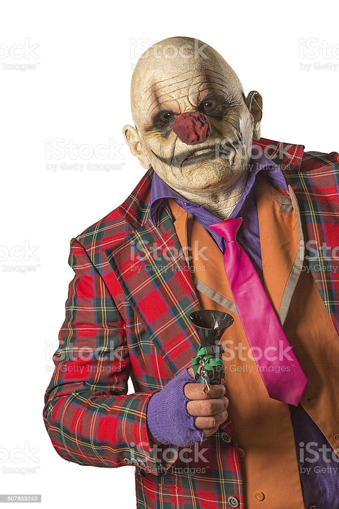 Creepy Clown stock photo