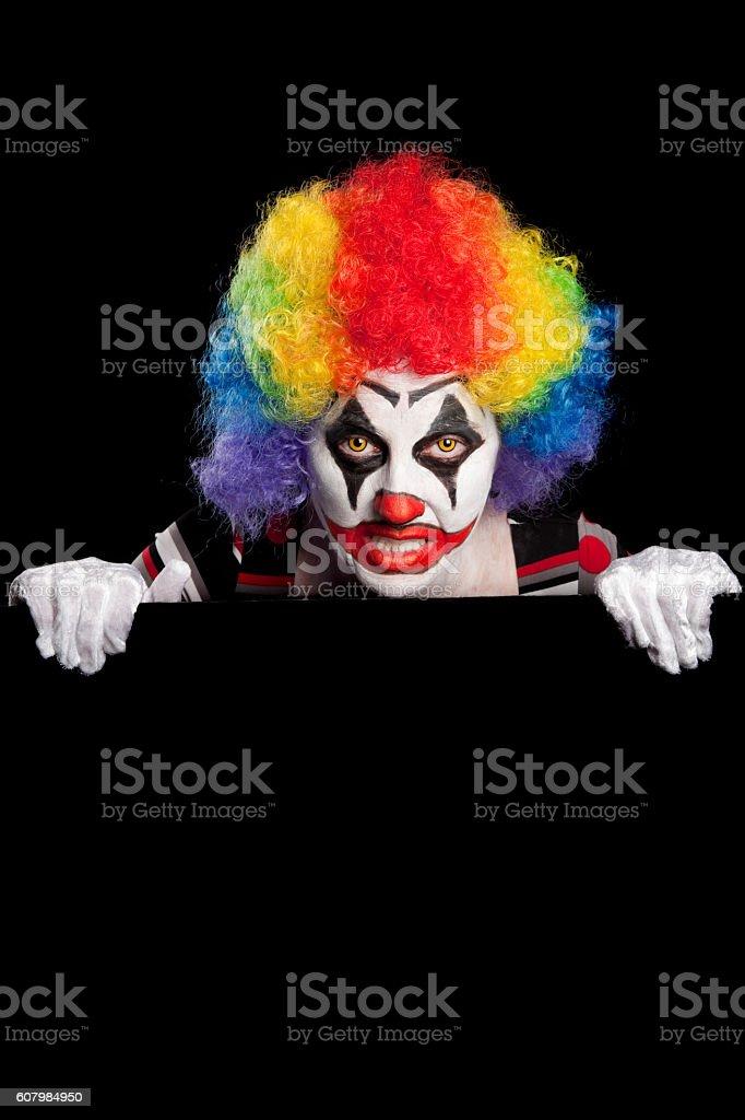 Creepy Clown Pop Up stock photo