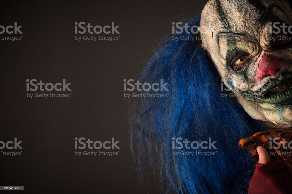 Creepy Clown Portrait stock photo