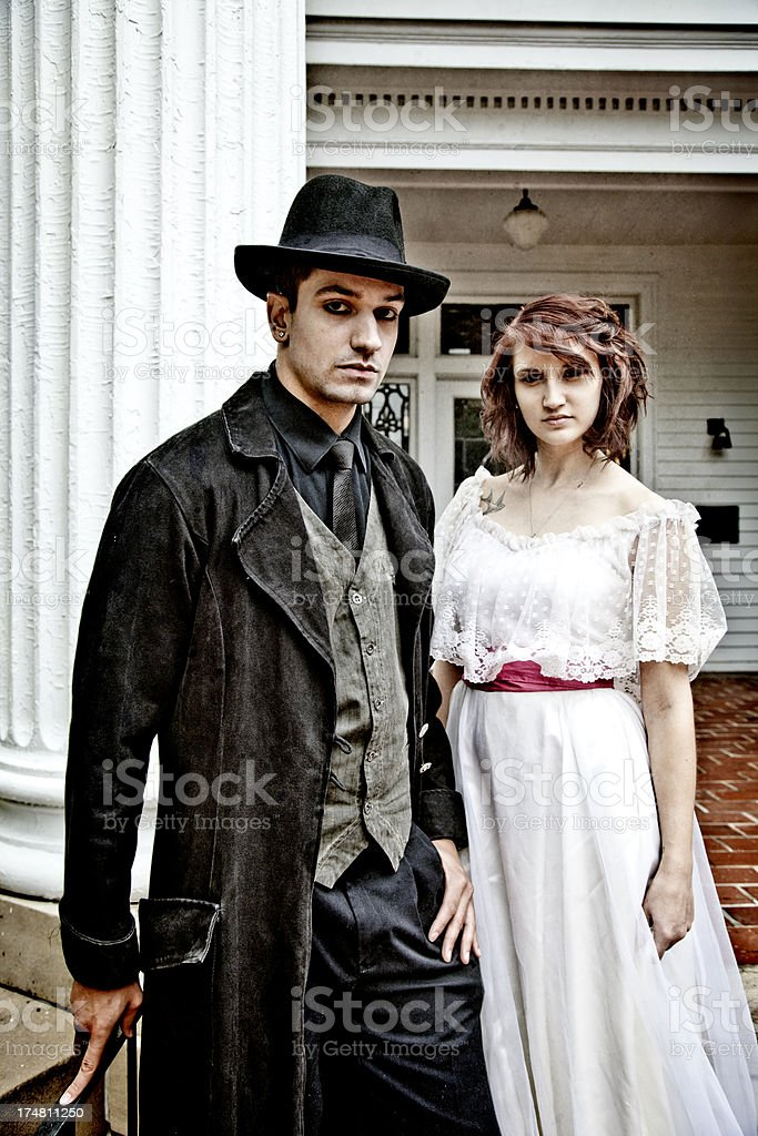 Creepy Couple stock photo