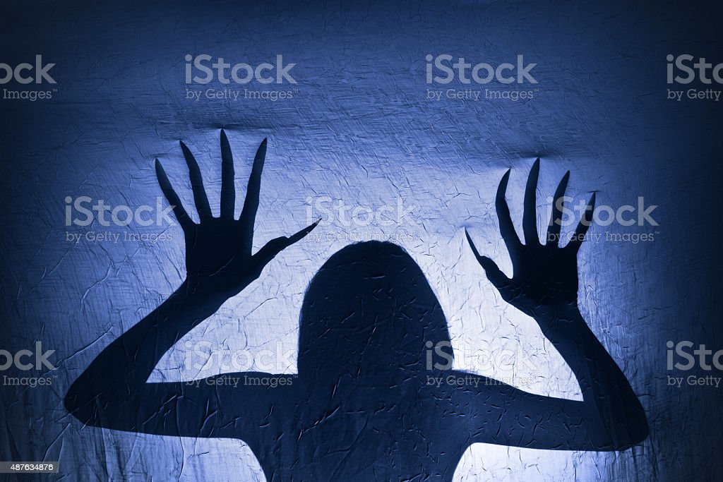 Creepy Creature Silhouette stock photo