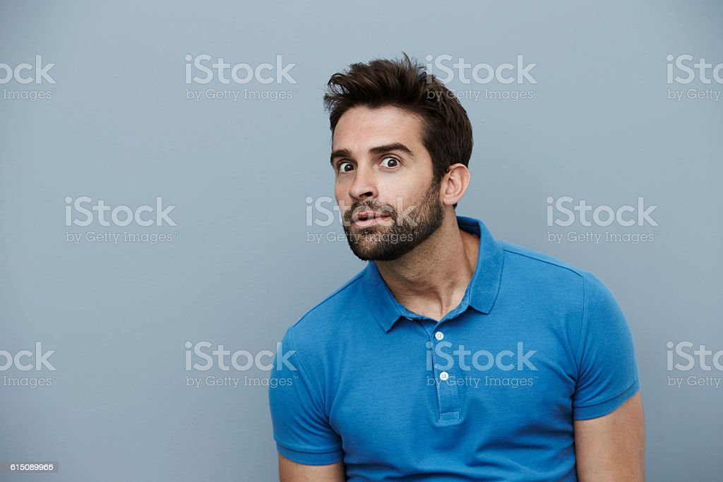 Creepy guy stock photo