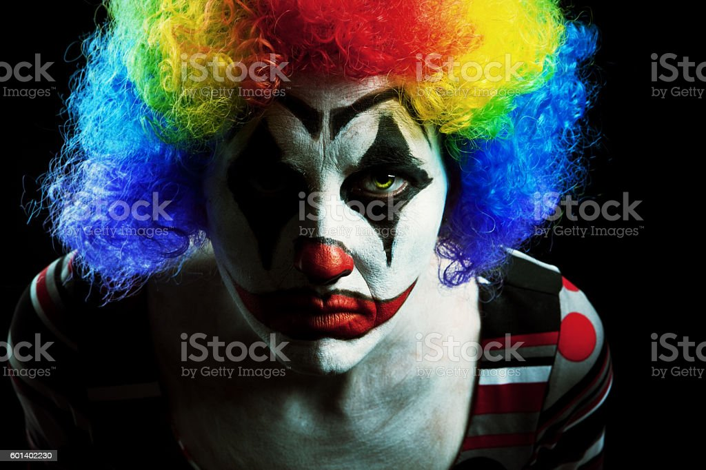Creepy Halloween Clown stock photo
