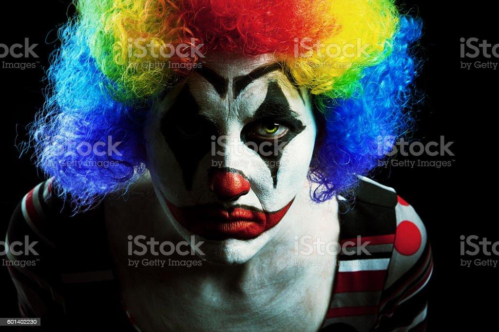 Creepy Halloween Clown stock photo