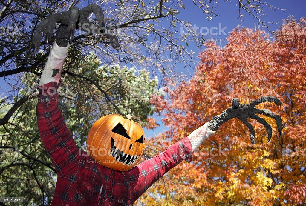 Creepy Halloween Scarecrow royalty-free stock photo