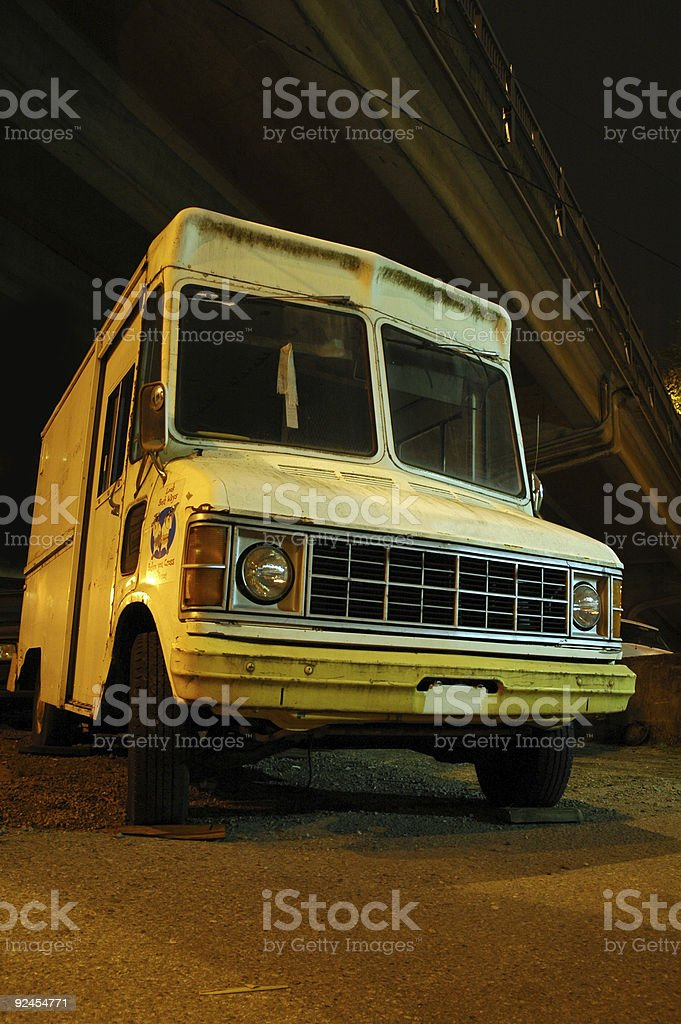 Creepy Ice Cream Truck royalty-free stock photo