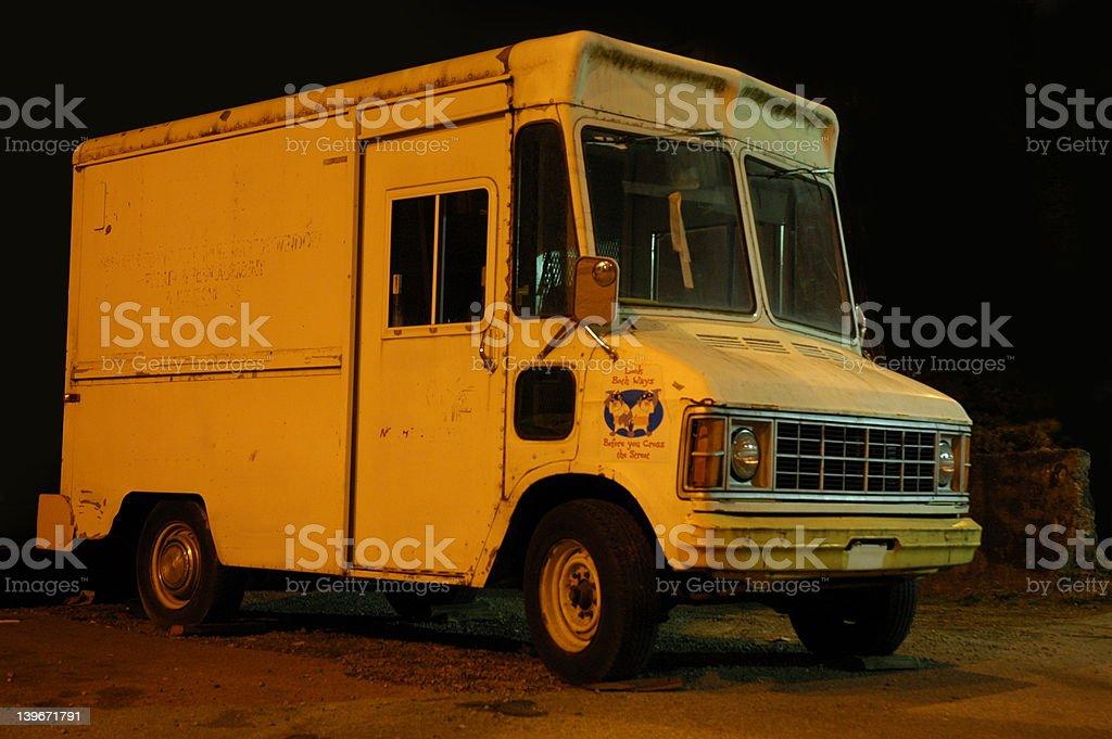 Creepy Ice-Cream Truck royalty-free stock photo